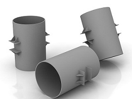 Опоры неподвижные лобовые двухупорные усиленные типа Т6