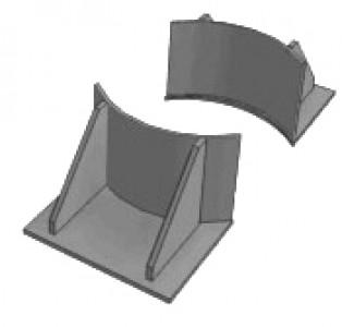 Опоры вертикальных трубопроводов - тип ВП
