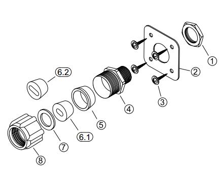 Устройство для ввода кабеля под теплоизоляцию LEK/U