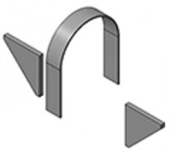 Опоры неподвижные хомутовые типа Т3
