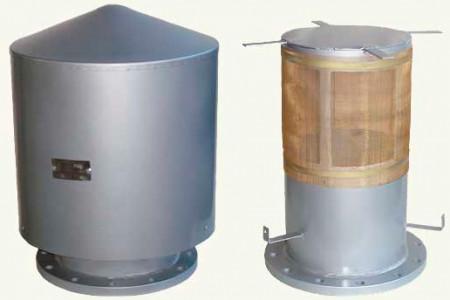 Патрубки вентиляционные резервуарные